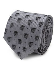 Black Panther Gray Dot Tie
