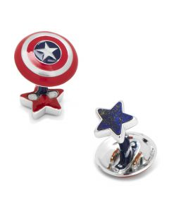 High End Luxury Captain America Shield Cufflinks