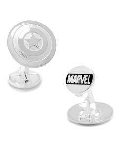 Sterling Silver 3D Captain America Shield Cufflinks