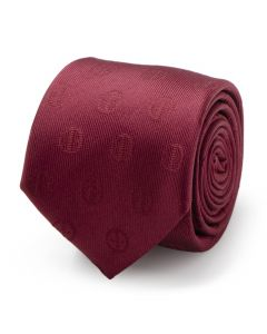 Deadpool Maroon Men's Tie
