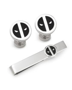 Deadpool Cufflinks and Tie Bar Gift Set