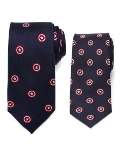 Father and Son Captain America Necktie Gift Set
