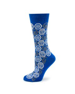 Marvel Comic Favorites Blue Socks