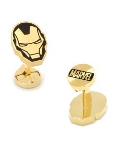 Stainless Steel Black and Gold Iron Man Cufflinks
