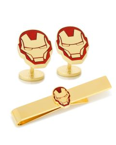 Iron Man Cufflinks and Tie Bar Gift Set