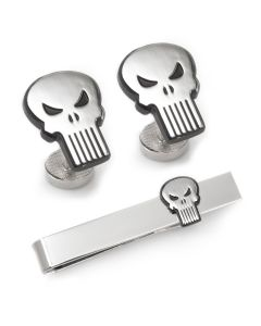 Punisher Cufflinks and Tie Bar Gift Set