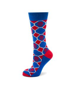 Spider-Man Blue Checker Socks