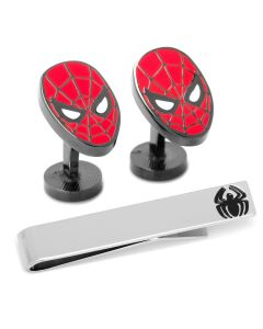 Spiderman Cufflinks and Tie Bar Gift Set