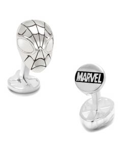 Sterling Silver 3D Spider-Man Cufflinks