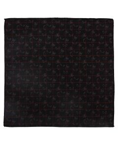 Spider-Man Black Pocket Square