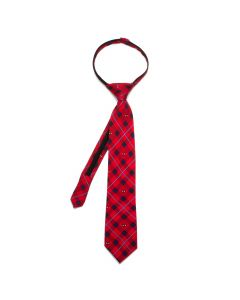 Spider-Man Red Plaid Boys' Zipper Silk Tie