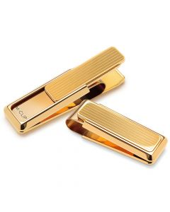 Gold with Channeled Slide Bar Money Clip