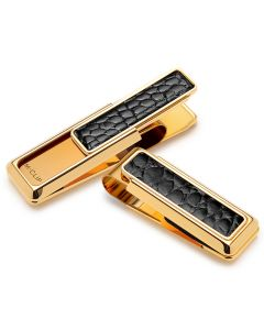 New Yorker Black Alligator Money Clip