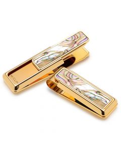 Gold Yellow Abalone Money Clip