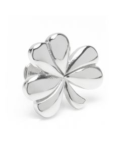 Clover Stainless Steel Lapel Pin