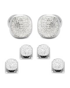 White Pave Crystal Stud Set