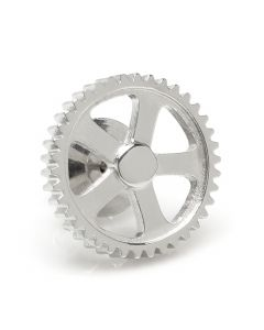 Gear Stainless Steel Lapel Pin