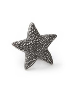 Starfish Black Antiqued Lapel Pin