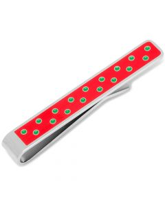 """Tis the Season"" Hidden Message Polka Dot Tie Bar"