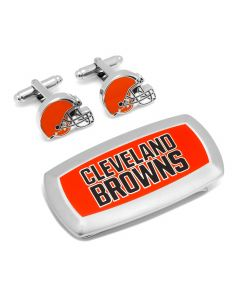 Cleveland Browns Cufflinks and Cushion Money Clip Gift Set