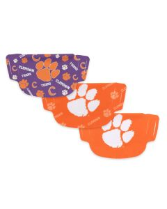 University of Clemson 3 Pack Face Masks