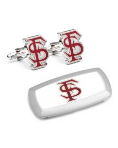 Florida State Seminoles Cufflinks and Cushion Money Clip Set