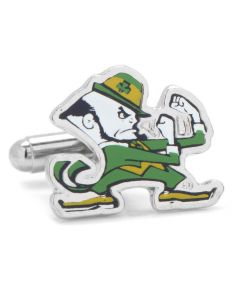 Notre Dame University Fighting Leprechaun Cufflinks