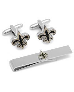 New Orleans Saints Cufflinks and Tie Bar Gift Set