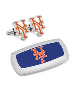 New York Mets Cufflinks and Cushion Money Clip Gift Set