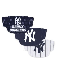 New York Yankees 3 Pack Face Mask