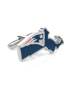 New England Patriots State Shaped Cufflinks