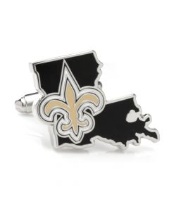 New Orleans Saints State Shaped Cufflinks