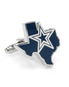 Dallas Cowboys State Shaped Cufflinks