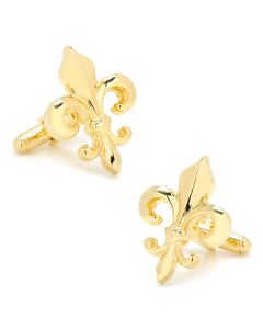 Cut Out Gold Fleur de Lis Cufflinks