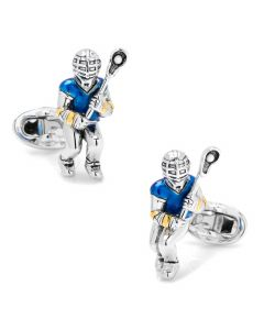 Moving Lacrosse Player Cufflinks
