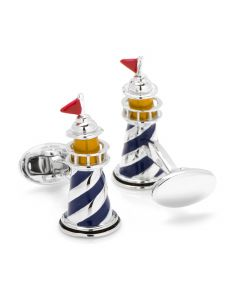 Sterling Silver Light House Cufflinks