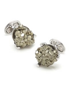 Sterling Pyrite Meteor Cufflinks