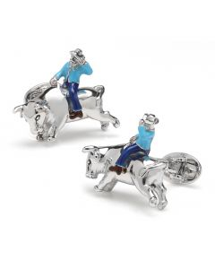 Sterling Silver Rodeo Cufflinks