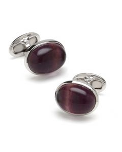 Sterling Fluorite Oval Cufflinks