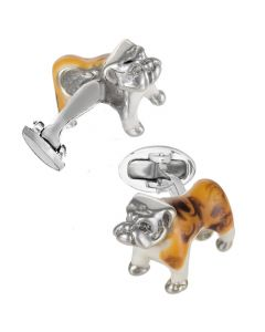 Sterling Silver English Bulldog Cufflinks