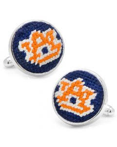 Auburn University Needlepoint Cufflinks