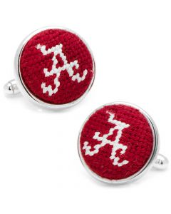 University of Alabama Needlepoint Cufflinks