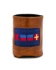 Beer Nautical Flag Needlepoint Can Cooler