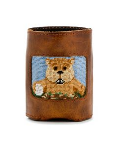 Gopher Golf Needlepoint Can Cooler