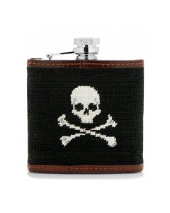 Jolly Roger Needlepoint Flask