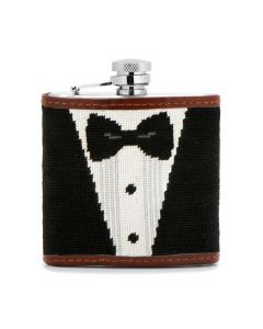 Black Tie Affair Needlepoint Flask