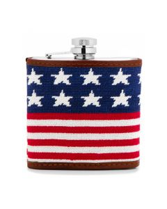 Old Glory Needlepoint Flask