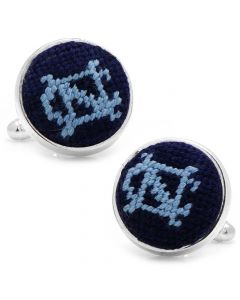 University of North Carolina Needlepoint Cufflinks