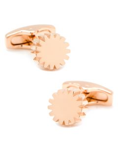 Cog Rose Gold Cufflinks