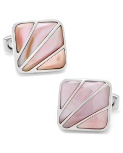 Deco Fan Pink Mother of Pearl Cufflinks